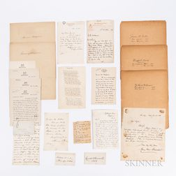 Forty-one Signed Cards and Letters of 19th and 20th Century Clergymen.