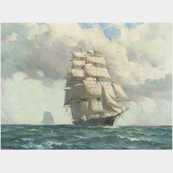 Gordon Hope Grant (American, 1875-1962)  Sovereign of the Seas