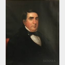 American School, 19th Century       Portrait of Jacob Weidman.