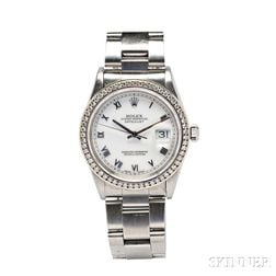 """Stainless Steel """"Oyster Perpetual Datejust"""" Wristwatch, Rolex"""