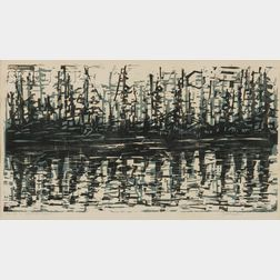 Werner Drewes (German/American, 1899-1985)      Reflections