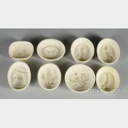 Eight Wedgwood Queen's Ware Oval Culinary Molds