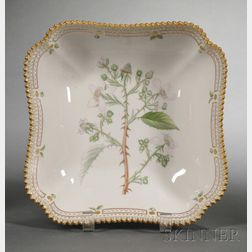 "Royal Copenhagen Porcelain ""Flora Danica"" Serving Bowl"