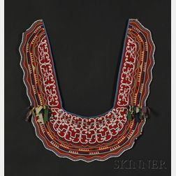 Penobscot Beaded Cloth Collar and Cuffs