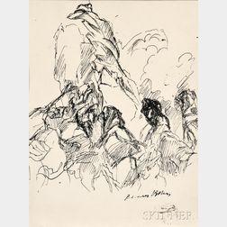 Jacques Villon (French, 1875-1963)      Mountainous Landscape