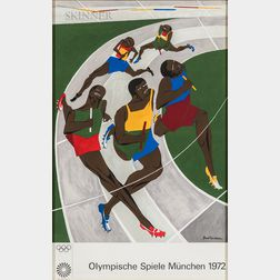 Jacob Lawrence (American, 1917-2000)      Olympische Spiele München (The Runners)