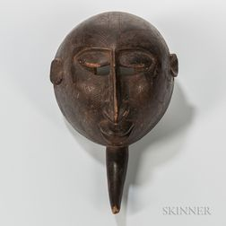 Congo-style Carved Wood Mask