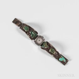 Navajo Silver and Turquoise Watch
