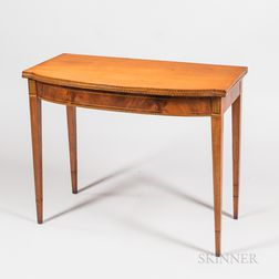 Federal Inlaid Mahogany Card Table