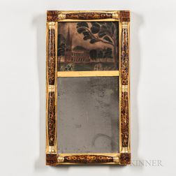 Small Painted Split-baluster Mirror