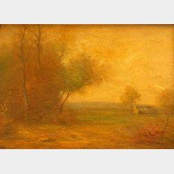 Framed Oil on Board of an Autumnal Landscape