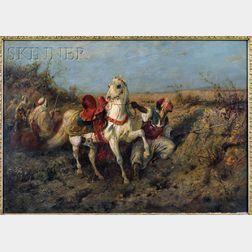 Adolf Schreyer (German, 1828-1899)      Arab Horsemen