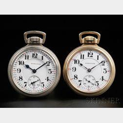 Two Hamilton Open Face Watches