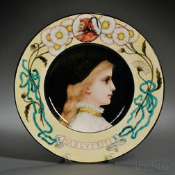 Theodore Deck Faience Portrait Charger