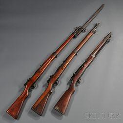 Three Japanese Bolt Action Rifles