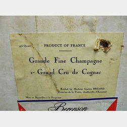 Domaine de la Voute Grand Fine Champagne Cognac 1er Grand Cru de Cognac, 12 4/5 quart bottles