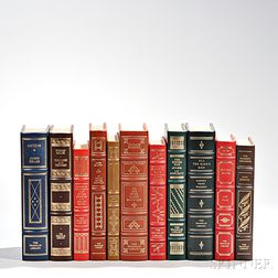 Franklin Library Leatherbound Books, Including Signed Copies, Eleven Volumes.