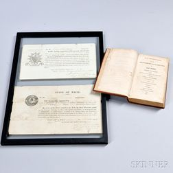 Two Framed Appointments and an Infantry Regulations Manual