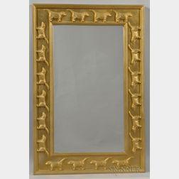 Stephen Huneck Dog-decorated Mirror