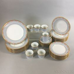 "Thirty-nine of Christian Dior ""Dior Rose"" Porcelain Tableware"