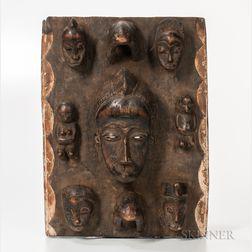 Baule-style Carved Wood Mask