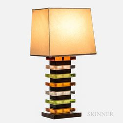 Lucite Stack Table Lamp