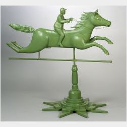 Galloping Horse Folk Art Weather Vane