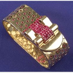 18kt Gold and Ruby Bracelet, Van Cleef & Arpels