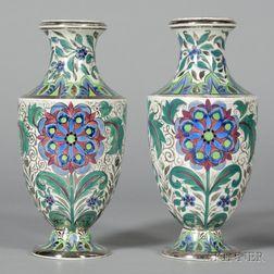 Pair of Wedgwood Millicent Taplin Rhodian Ware Vases