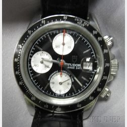 Gentleman's Stainless Steel Chronograph Wristwatch, Tudor