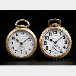 Two Gold-filled Hamilton 21-jewel Watches
