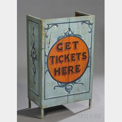 Paint Decorated Ticket Booth