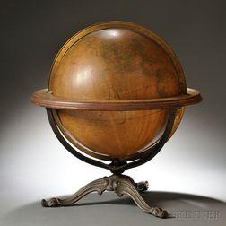 Gilman Joslin 15-inch Globe on Cast Iron Tripod Stand