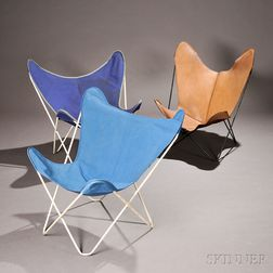 Three Butterfly Lounge Chairs