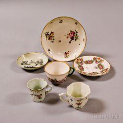 Six European Porcelain Tableware Items