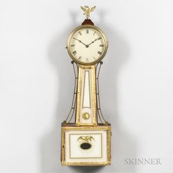 "S. Willard-style Timepiece or ""Banjo"" Clock"