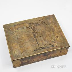 "Rockwell Kent (1882-1971) ""Sally"" Cigar Box"