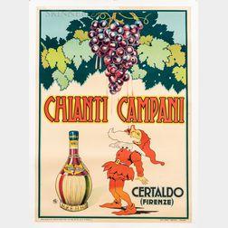European School, 20th Century      Vintage Poster: Chianti Campani