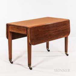 Regency-style Inlaid Mahogany Drop-leaf Table