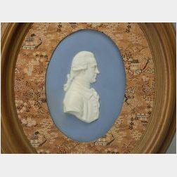Wedgwood Solid Light Blue Jasper Portrait Plaque of Herschel