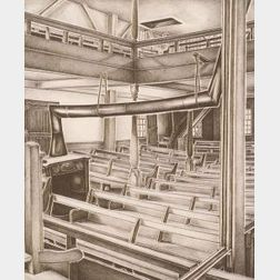 Edith Newton (American, 1878-1964)  Quaker Meeting House,