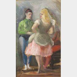 Jon Corbino (American, 1905-1964)    Waiting Dancers