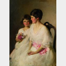 Adelaide Cole (Mrs. W.C.) Chase (American, 1868-1944)    The Two Alices