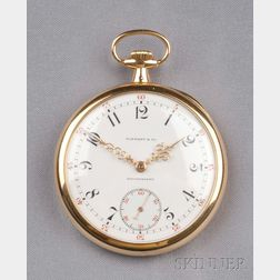 18kt Gold Open Face Pocket Watch, Tiffany & Co., Patek Philippe