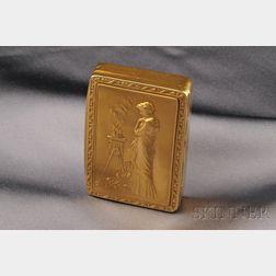 Antique 18kt Gold Box, France