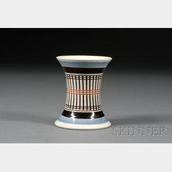 Mochaware Engine-turned Spill Vase