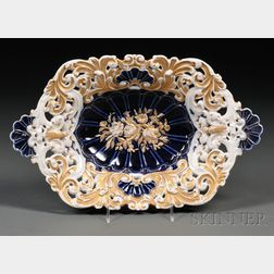 Meissen Porcelain Two-handled Dish