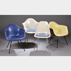 Four Eames Chairs