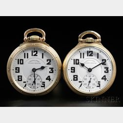 Two Hamilton Railway Special Open Face Watches
