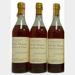 Domaine de la Voute Grand Fine Champagne Cognac 1er Grand Cru de Cognac, 3 4/5 quart bottles